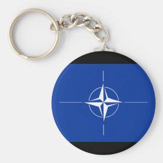 Nato-flagga Rund Nyckelring