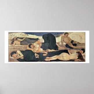Natt 1890 (olja på kanfas) poster
