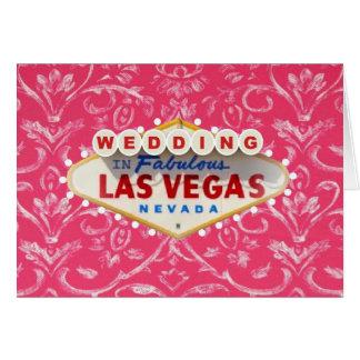 Nätt antikt rosa bröllop i det Las Vegas kortet