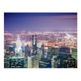 Natt av Manhattan Vykort