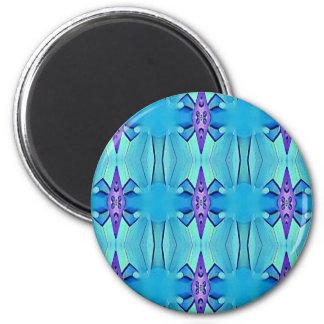 Nätt Azure mönster för blåttlila flickaktigt Magnet Rund 5.7 Cm