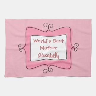 Nätt bäst mor för rosa- och vitvärldar kökshandduk
