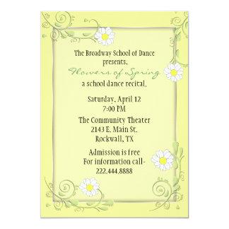 Nätt beställnings- blom- högläsninginbjudan 12,7 x 17,8 cm inbjudningskort