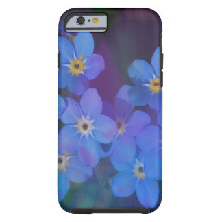 Nätt blåa blommoriphone case tough iPhone 6 fodral
