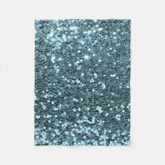 Nätt blåttFauxglitter och diamanter Fleecefilt