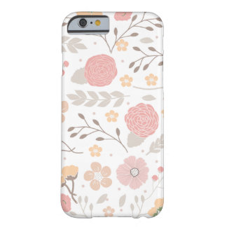 Nätt blom- botanisk iPhone 6, knappt där Barely There iPhone 6 Fodral