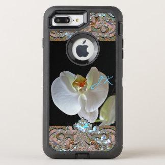 Nätt blom- tuff för OrchidMonogram OtterBox Defender iPhone 7 Plus Skal