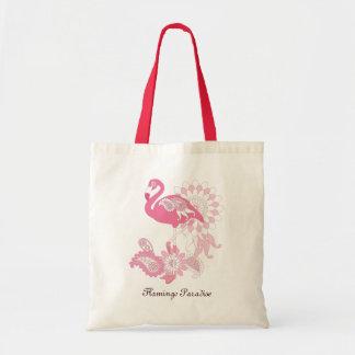 Nätt coola för Paisley rosa Flamingo flickaktigt Budget Tygkasse