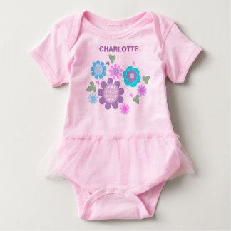 Nätt Ditsy för gulliga ungar pastellfärgat blom- T Shirt