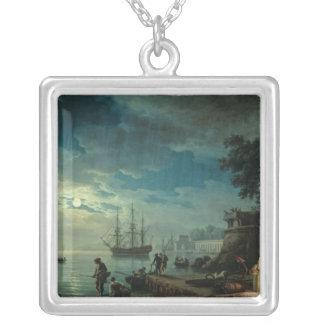 Natt: En port i månsken, 1748 Silverpläterat Halsband
