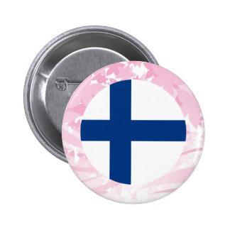 Nätt finlandssvensk souvenir standard knapp rund 5.7 cm