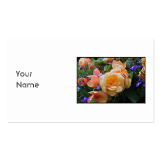 Nätt Flowers. Set Av Standard Visitkort