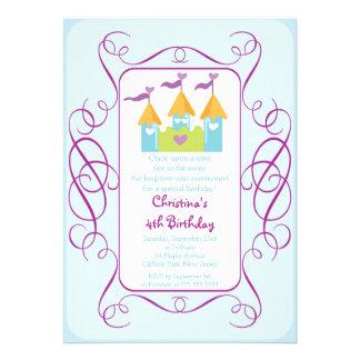Nätt födelsedagsfest inbjudan för Princess Rockera