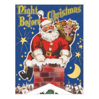 Natt för julvykort vykort