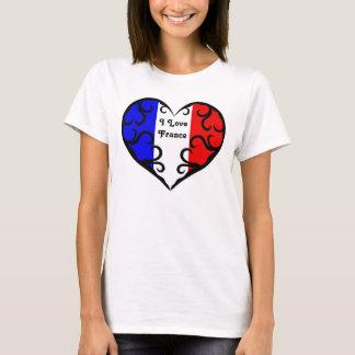 Nätt fransk hjärta | älskar jag frankriken tröja