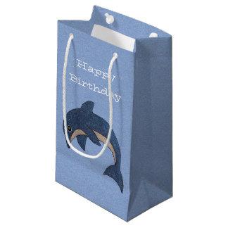 Nätt Glittery mörk - blåttvitdelfinen virvlar runt