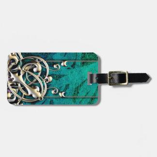 Nätt grön stam- symbolkrusidull för blått och för bagagebricka