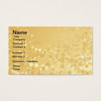 Nätt guld- stjärnor visitkort