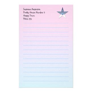 Nätt handstilpapper för barn brevpapper