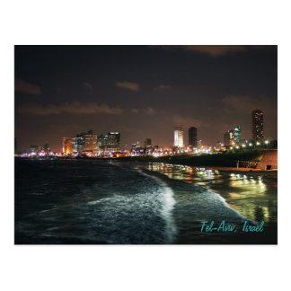 Natt i Tel Aviv, Israel Vykort
