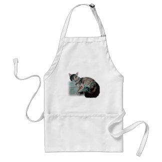nätt kattunge förkläde