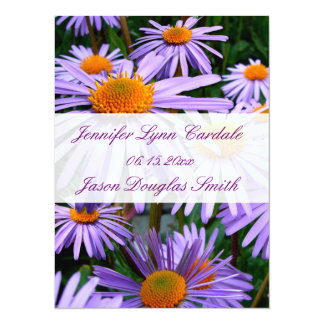 Nätt lila blommorelegant bröllopinbjudningar 14 x 19,5 cm inbjudningskort