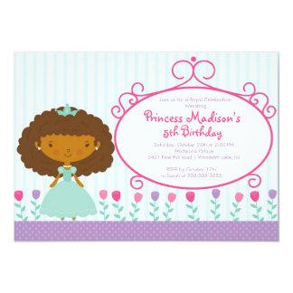 Nätt lilor för Princess födelsedagsfest inbjudan