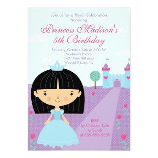 Nätt lilor för Princess födelsedagsfest inbjudan 12,7 X 17,8 Cm Inbjudningskort