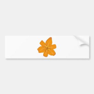 Nätt orange blomma bildekal