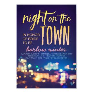 Natt på det TownBachelorette partyet 12,7 X 17,8 Cm Inbjudningskort