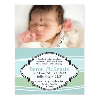 Nätt pastellfärgad nyfödd bebisPOJKE med 10,8 X 14 Cm Inbjudningskort