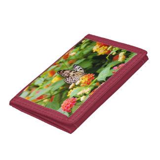 Nätt plånbok för fjärilsträdgårdtryck