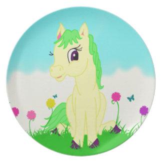 Nätt ponny tallrik