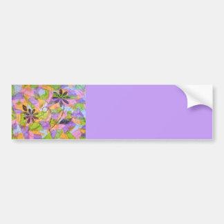 Nätt PosiesCollage (lavendel) Bildekal