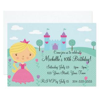 Nätt Princess födelsedagsfest 12,7 X 17,8 Cm Inbjudningskort