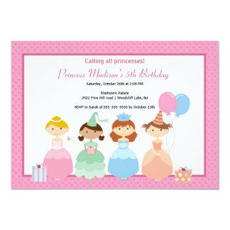 Nätt Princess födelsedagsfest inbjudan 12,7 X 17,8 Cm Inbjudningskort