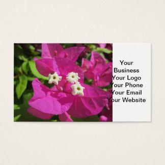 Nätt purpurfärgad Bougainvillea Visitkort