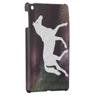 Nätt purpurfärgad skimrande metallisk häst iPad mini skydd