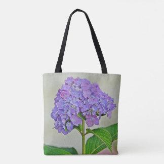 Nätt purpurfärgad vanlig hortensia tygkasse