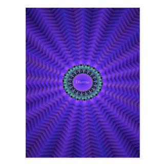 Nätt purpurfärgade livsanningar för utstråla vykort