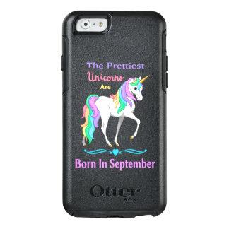 Nätt regnbågeUnicorns bördiga September OtterBox iPhone 6/6s Fodral