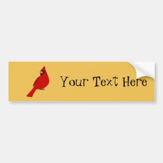 Nätt röd kardinal bildekal