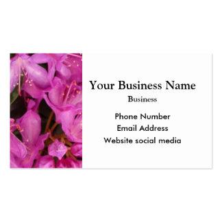 Nätt rosa blom- blomma set av standard visitkort
