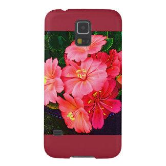Nätt rosa blom- för fodralplommon för galax S5 Galaxy S5 Fodral