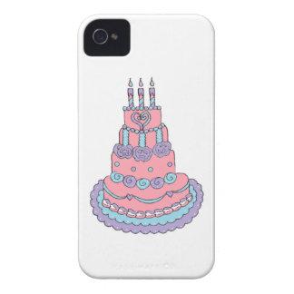 Nätt rosa födelsedagtårta