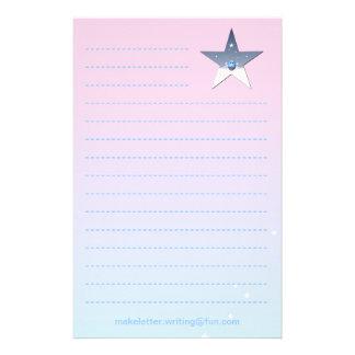 Nätt rosa handstilpapper för barn brevpapper