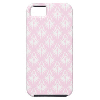 Nätt rosa- och vitmönster. Damask. iPhone 5 Case-Mate Cases
