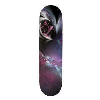 Nätt rosa rosFractal Skateboard Bräda 20 Cm