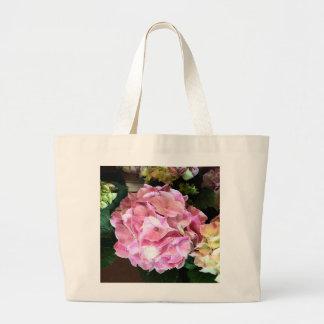 Nätt rosa vanlig hortensiatoto jumbo tygkasse