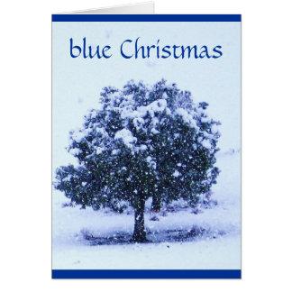 Nätt snöig blåttjul - över milesna hälsningskort